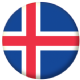Iceland Country Flag 25mm Flat Back